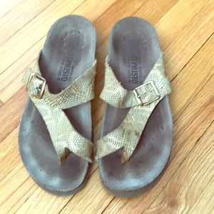 Mephisto Leather and cork sandals size 35
